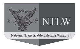 National Lifetime Transferable Warranty Crest